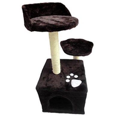 Demarkt-Kratzbaum-Katzenkratzbaum-Hundesofa-Katzenbett-Hundematte-braun-0