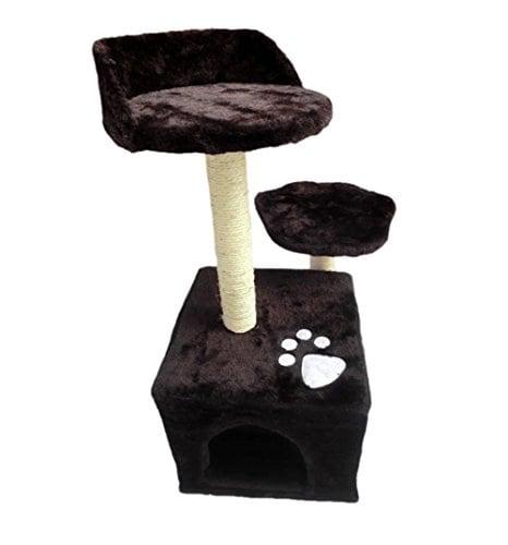 Demarkt Kratzbaum Katzenkratzbaum Hundesofa Katzenbett Hundematte (braun)