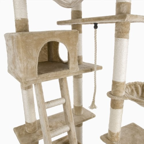 happypet katzen kratzbaum kletterbaum kratzm bel natursisal deckenhoch h henverstellbar 230. Black Bedroom Furniture Sets. Home Design Ideas
