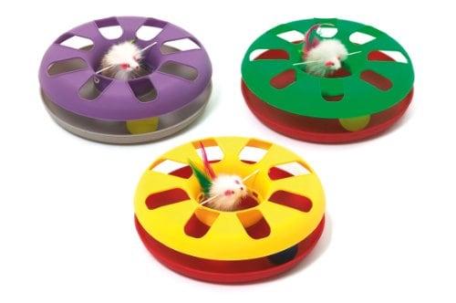 Karlie Flamingo Kitty-Roundabout Katzenspielzeug, 1 Stück, farblich sortiert