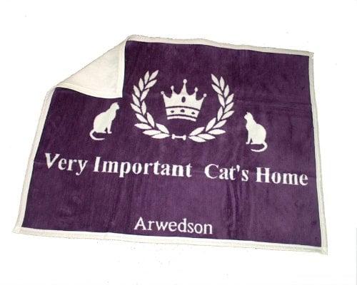 """Katzendecke """"Very important Cat's home"""" mit Antihaareffekt"""