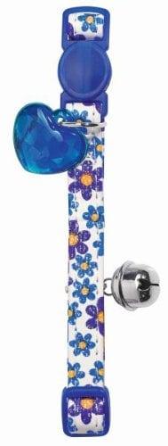 Katzenhalsband Spring blau; Sicherheitsverschluss