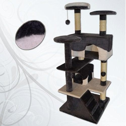 dibea kb00303 kratzbaum f r katzen grau wei ich liebe. Black Bedroom Furniture Sets. Home Design Ideas