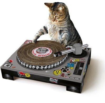 SUCK UK Katzenkratz-Plattenspieler