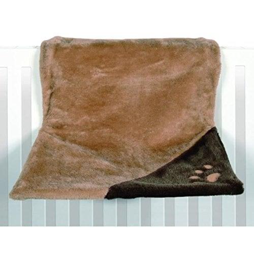 Trixie 4322 Liegemulde de Luxe, Plüsch 45 × 24 × 31 cm, hellbraun / braun