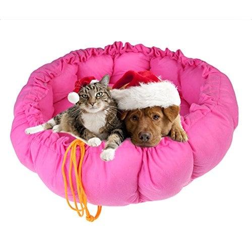 Vakind® Süß Haustier Warmes Bett Puppy Hund Katze Schlafsack Schlafplatz Kissen Matte Auflage Mehrfarbe (Rose, S)